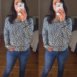 Banana Republic Black & White Leopard Sweater